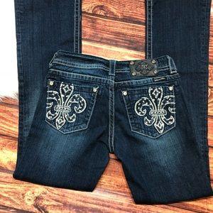 Miss Me Jeans - Miss Me Fleur De Lis Boot Cut Jeans